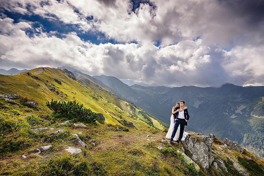 Kasprowy Wierch plener ślubny w Tatrach